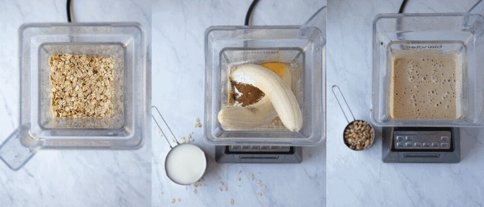 banana pancake batter in a blender