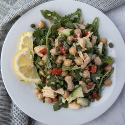 tuna salad on a plate