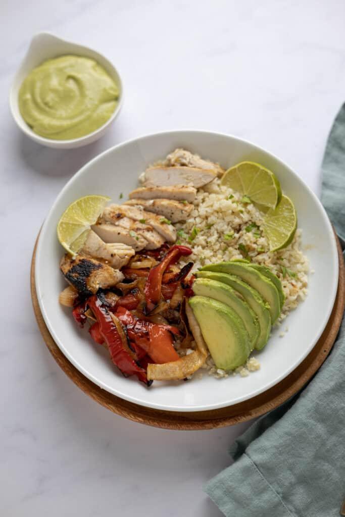 chicken fajita cauliflower rice